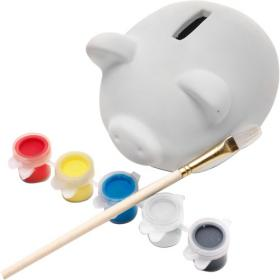 Piggy bank made of plaster