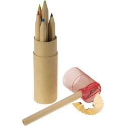 Cheap Stationery Supply of 6 Colour pencils with sharpener Office Statationery
