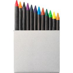 Cheap Stationery Supply of Crayon set in card box, 12pc Office Statationery