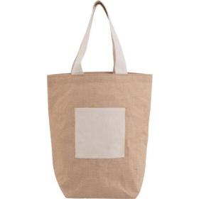 Jute and cotton beach bag.