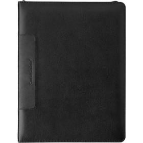 Leather Charles Dickens A4 zipped folder