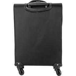 Cheap Stationery Supply of 420 Jacquard light weight trolley with 4 wheels, an aluminium extendable handle, two front  soft padded zipped pockets . Office Statationery