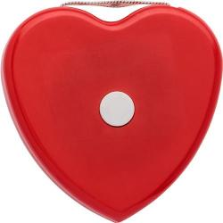 Cheap Stationery Supply of Plastic, 1.5m, heart shaped BMI tape measure, includes a weight (KG) and height (Mts.) indicator on the front. To be used for promotional purposes.  Office Statationery