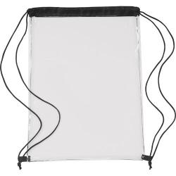 Cheap Stationery Supply of Transparent PVC drawstring bag. Office Statationery