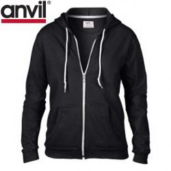 Cheap Stationery Supply of E160 Anvil Ladies Full Zip Hoodie Office Statationery