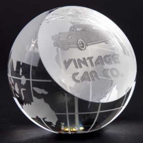 E143 80mm Optical Crystal Globe