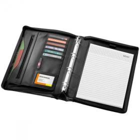 E095 New Ebony A4 Zipper Portfolio