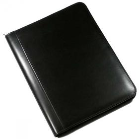 E097 Warwick Leather A4 Zipped Conference Folder