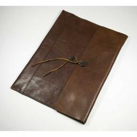 E098 Ashbourne Leather A4 Envelope Document Case