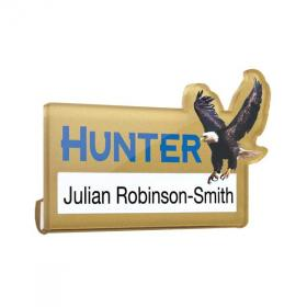 E076 Acrylic Name Window Badge