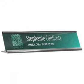 E076 Reusable Desk Nameplate Holder & Insert