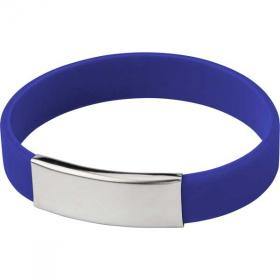 E071 Silicone Wristband with Metal Name Plate