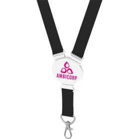 E072 Elliptical Shape Snap Lanyard