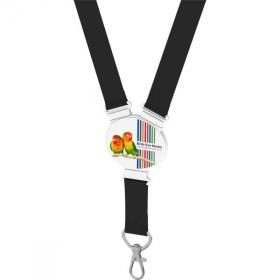 E072 Elliptical Shape Snap Lanyard - Full Colour
