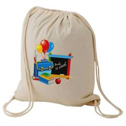 Cheap Stationery Supply of E083 Natural Cotton Backpack Office Statationery