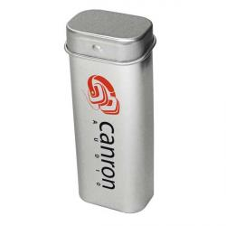 Cheap Stationery Supply of E138 Silver Tower Tin Filled With Mints Office Statationery