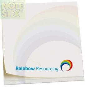 E054 Full Colour Square NoteStix Adhesive Pads 75 x 75mm