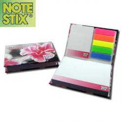 Cheap Stationery Supply of E054 NoteStix Hardback Combi Set Full Colour Office Statationery