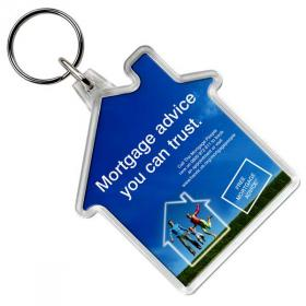 E114 Shaped Plastic Key Ring