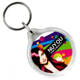 E114 Round Plastic Key Ring