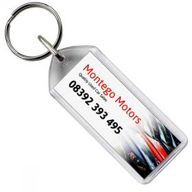 E114 Oblong Plastic Key Ring