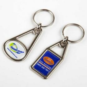 E114 Metal Domed Key Ring
