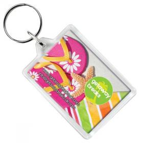 E114 Rectangular Key Ring