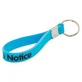 E114 Silicone Loop Key Ring