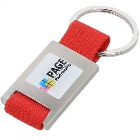 E115 Metal Rectangular Key Ring