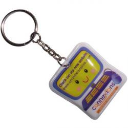 Cheap Stationery Supply of E117 Shaped PVC Key Ring Torch Office Statationery
