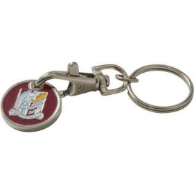 E116 Enamelled Trolley Coin Key Ring