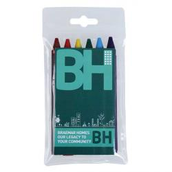 Cheap Stationery Supply of E049 Pack of 6 Crayons Office Statationery