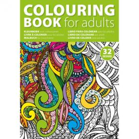 E050 A4 Adult Colouring Book